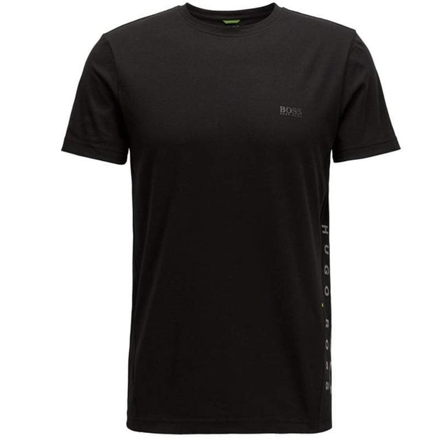 BOSS Athleisure TL-Tech Reflective Logo Performance Tee in Black T-Shirts BOSS