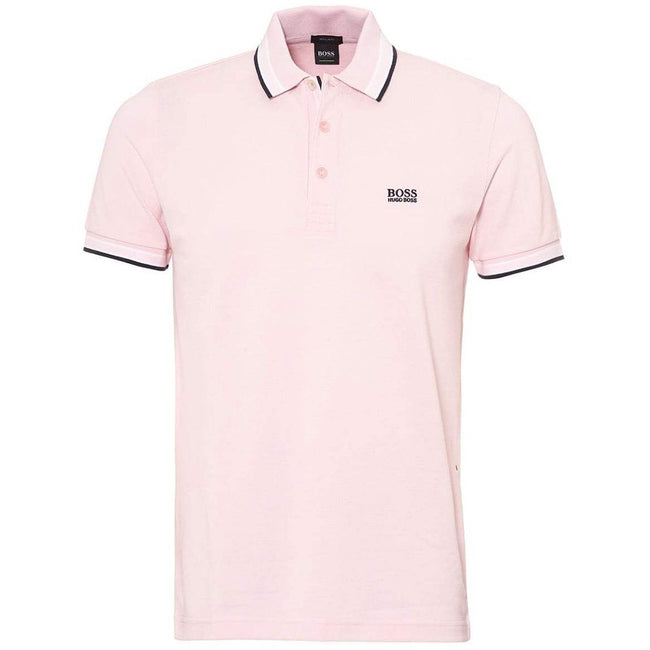 BOSS Paddy Regular Fit Polo Shirt in Pink