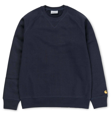 Carhartt Chase Sweatshirt in Dark Navy / Gold Jumpers Carhartt