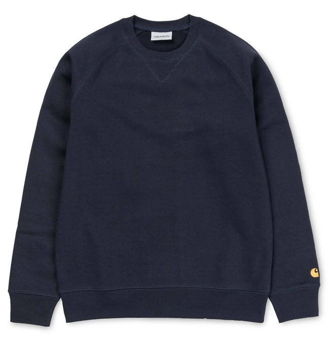 Carhartt Chase Sweatshirt in Dark Navy / Gold