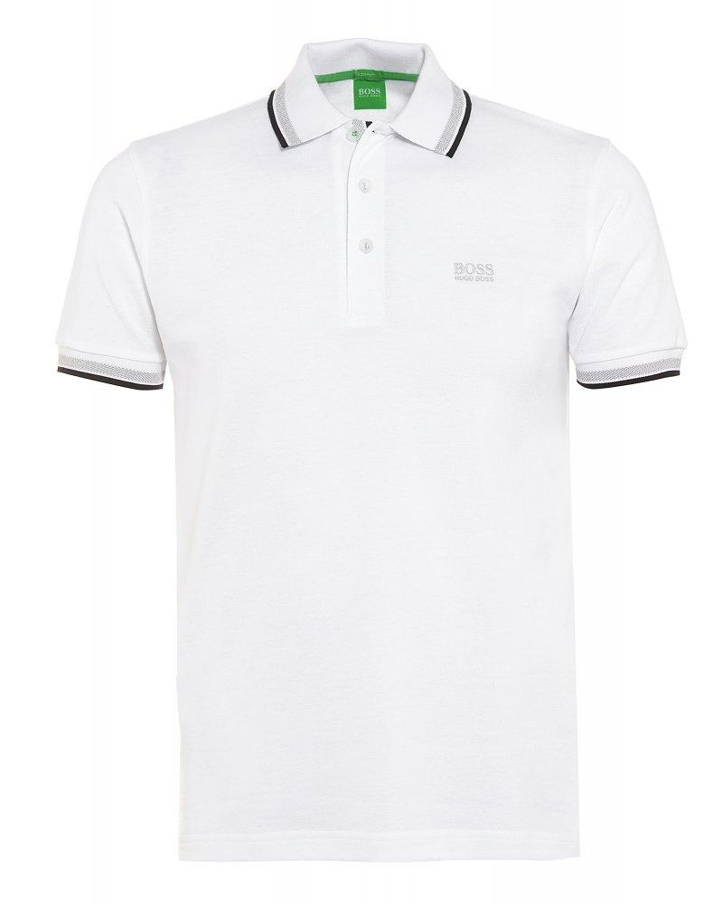 933f83159 BOSS Paddy Regular Fit Polo Shirt in White – Edwards Menswear