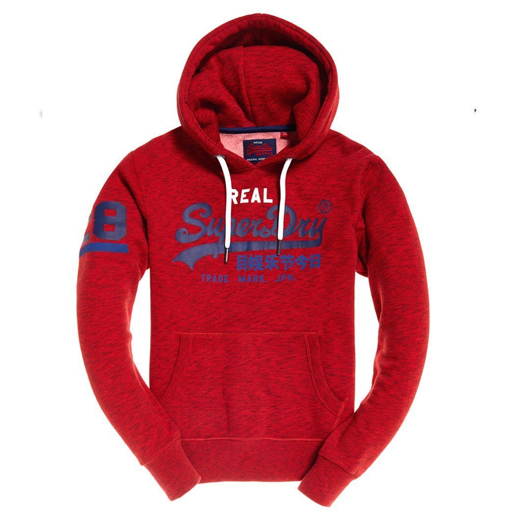 Superdry Vintage Logo Tri Hood in Alabama Red Grit