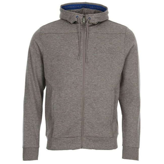 BOSS Athleisure Saggy Embossed Logo Full Zip Hoodie in Grey
