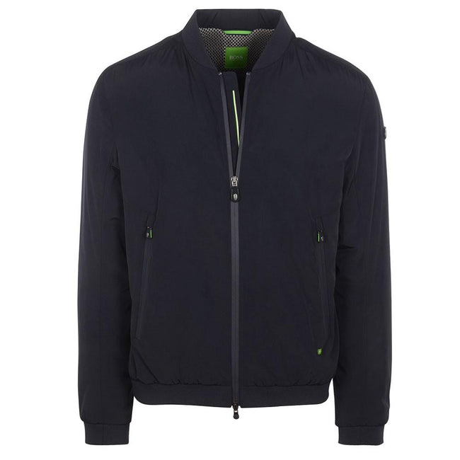 BOSS Athleisure Jomber Fully Lined Nylon Jacket in Navy