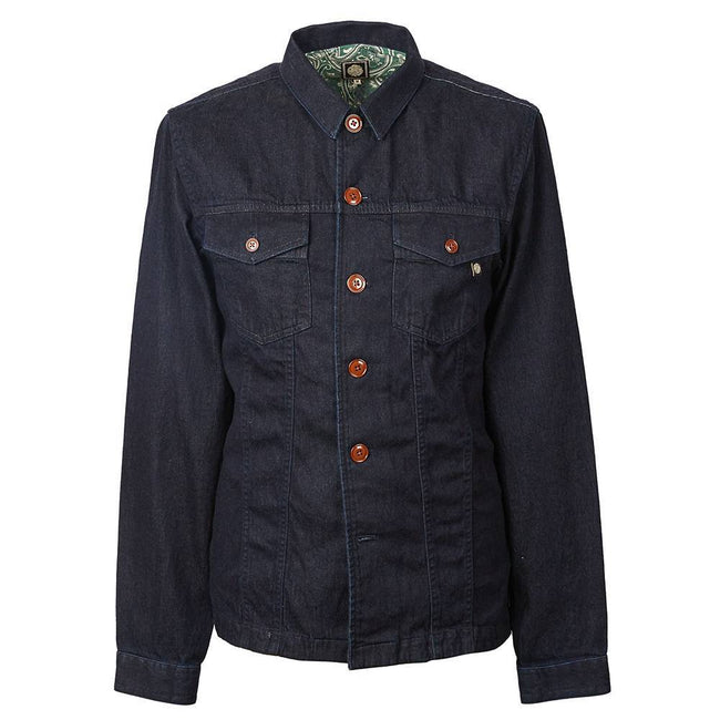 Pretty Green Trucker Shirt in Navy