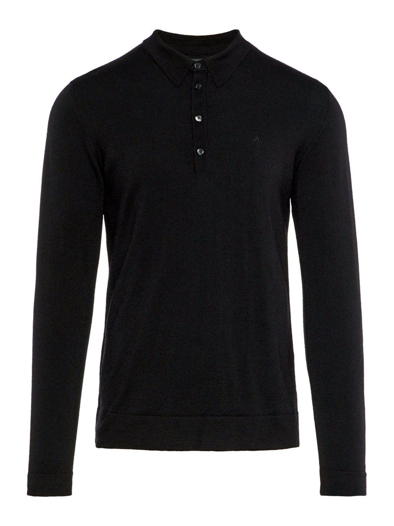J. Lindeberg Newman Perfect Merino Polo Shirt in Black