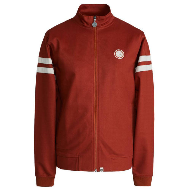 Pretty Green Contrast Panel Track Top in Orange