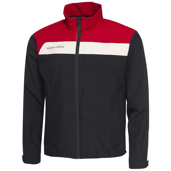 Galvin Green Austin Gore-Tex Waterproof Jacket in Black / Red / Snow