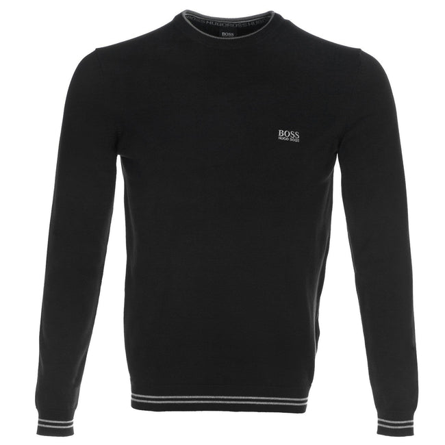 BOSS S_18 Rime Crew Neck Jumper in Black
