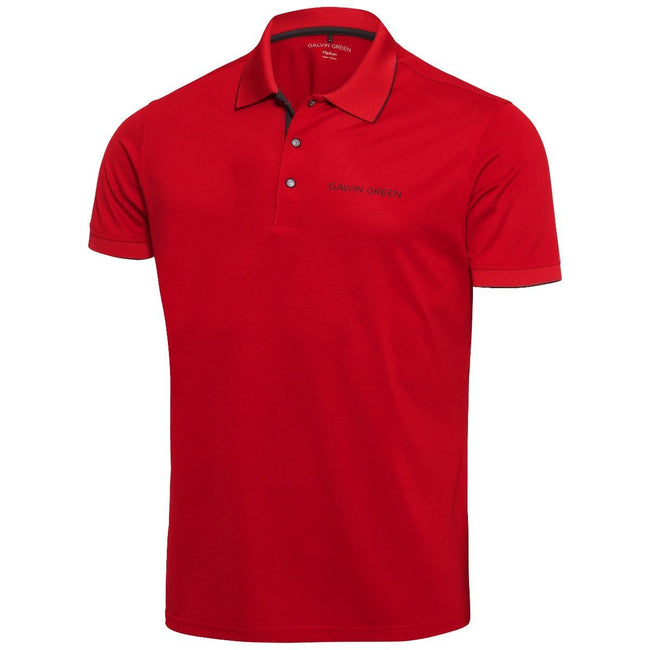 Galvin Green Marty Tour V8+ Polo Shirt in Red / Black