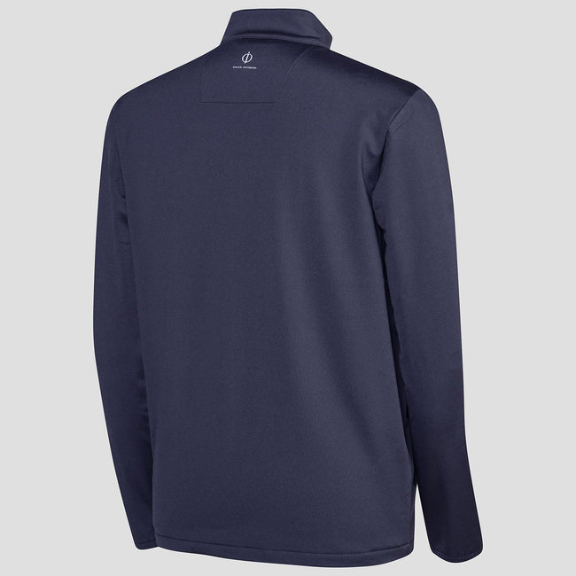 Oscar Jacobson Jonathan Thermal Half Zip in Navy