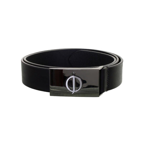 Oscar Jacobson Classic Leather Belt in Black Belts Oscar Jacobson