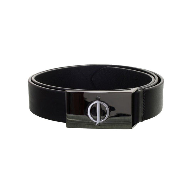 Oscar Jacobson Classic Leather Belt in Black