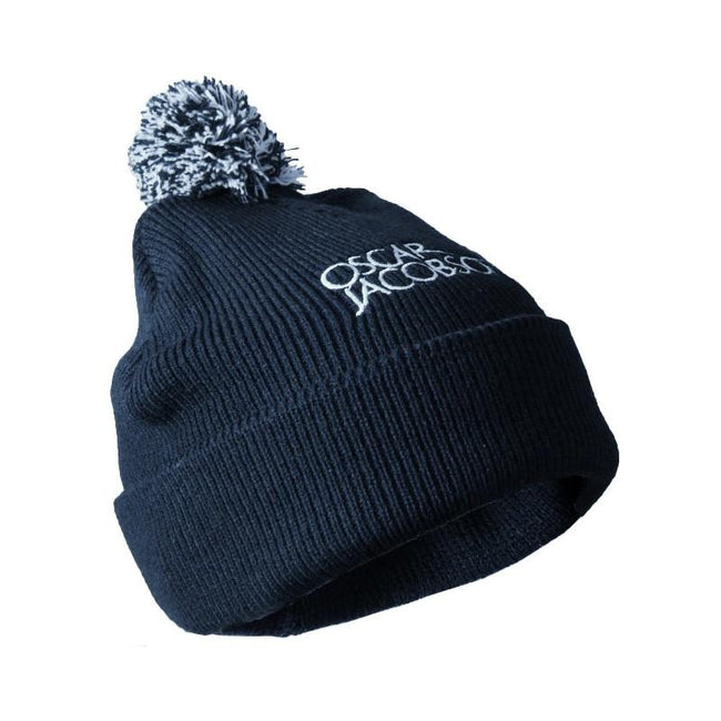 Oscar Jacobson Knitted Golf Hat 2 in Navy Blue