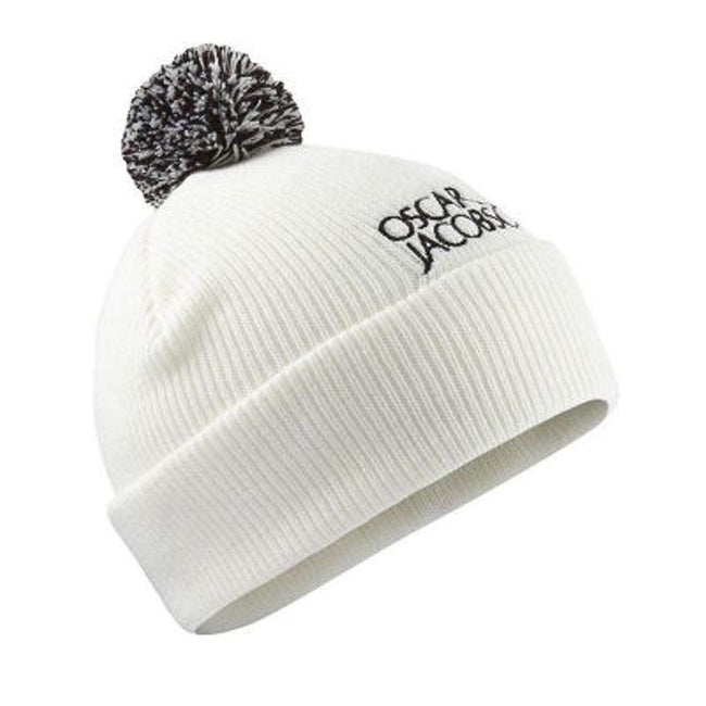 Oscar Jacobson Knitted Golf Hat 2 in White