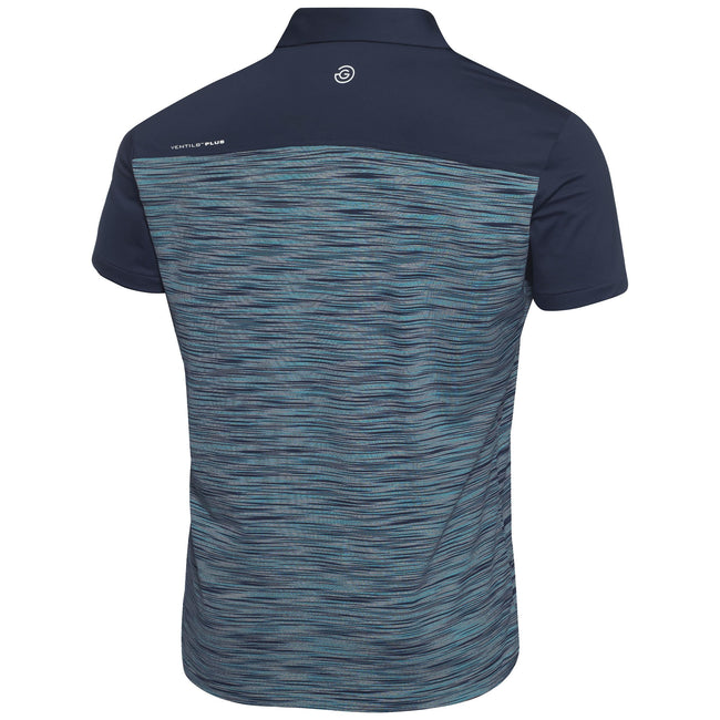 Galvin Green Merwin Ventil8+ Polo Shirt in Navy / River Blue / Snow
