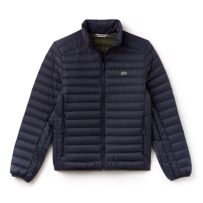 Lacoste BH9389-JE1 Light Weight Puffer Jacket in Meridian Blue