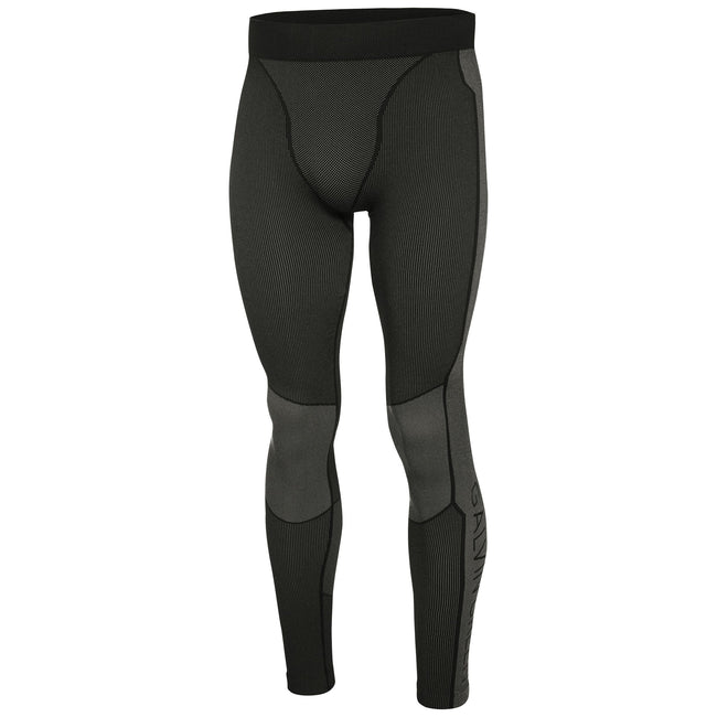 Galvin Green Ebbe Skintight Thermal Seamless Leggings in Black / Iron Grey