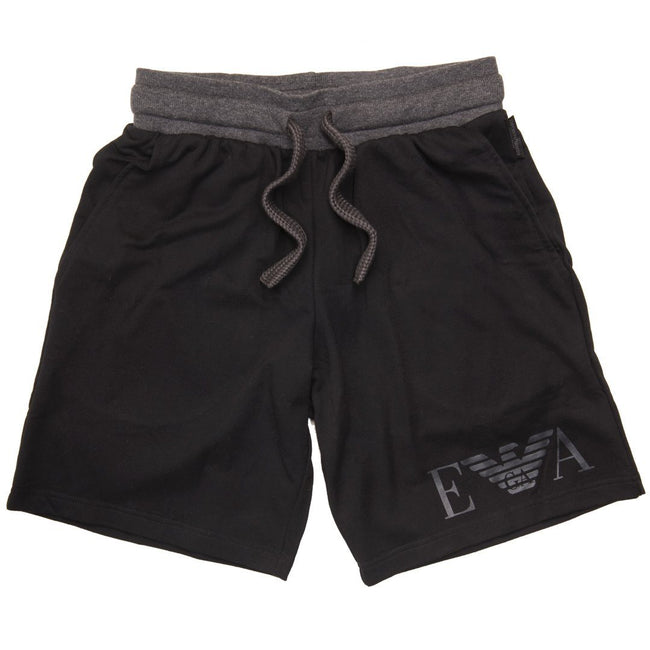 Emporio Armani Bermuda Loungewear Shorts in Black
