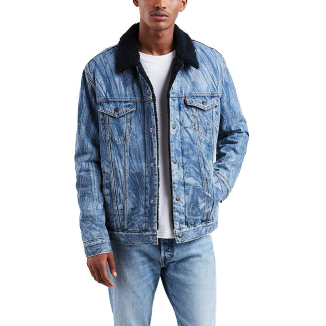 Levi's X JT Sherpa Trucker Hunter Denim Jacket in Indigo