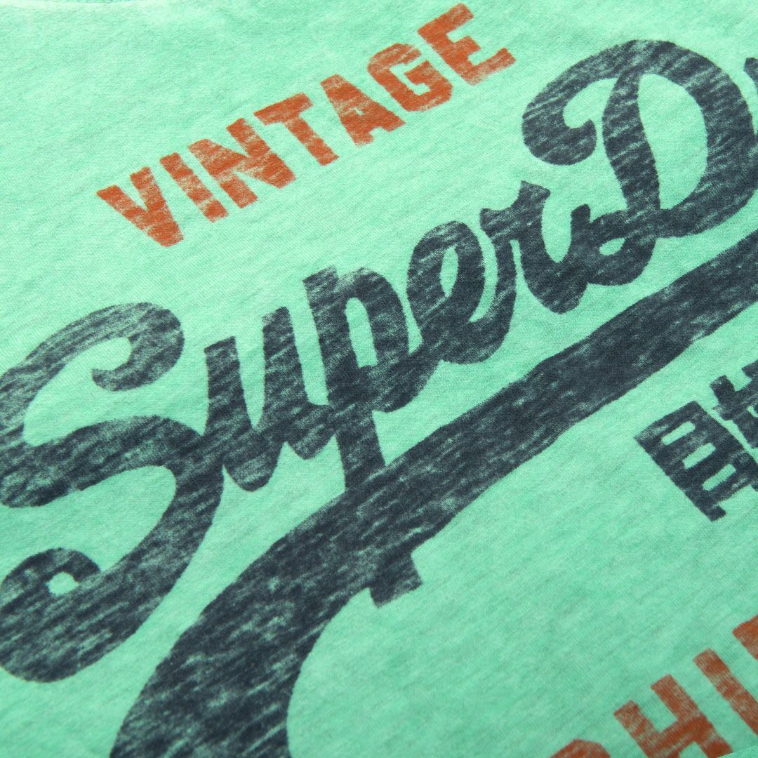 Superdry Shirt Shop Duo Overlay Lite T-Shirt in Jade