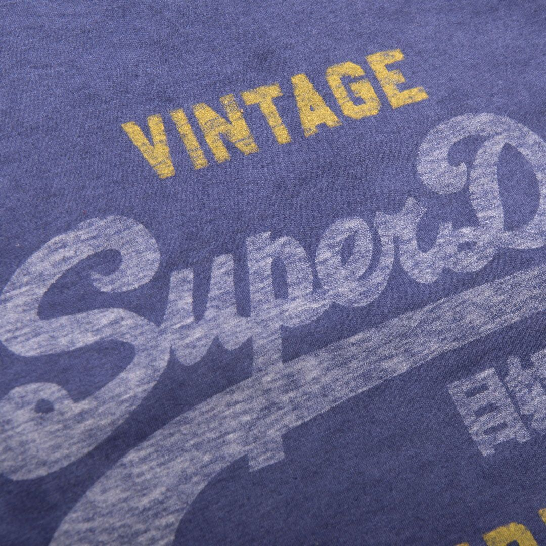 Superdry Shirt Shop Duo Overlay Lite T-Shirt in Blue Print