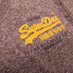 Superdry Premium Goods Duo Essential T-Shirt in Fig Snowy T-Shirts Superdry