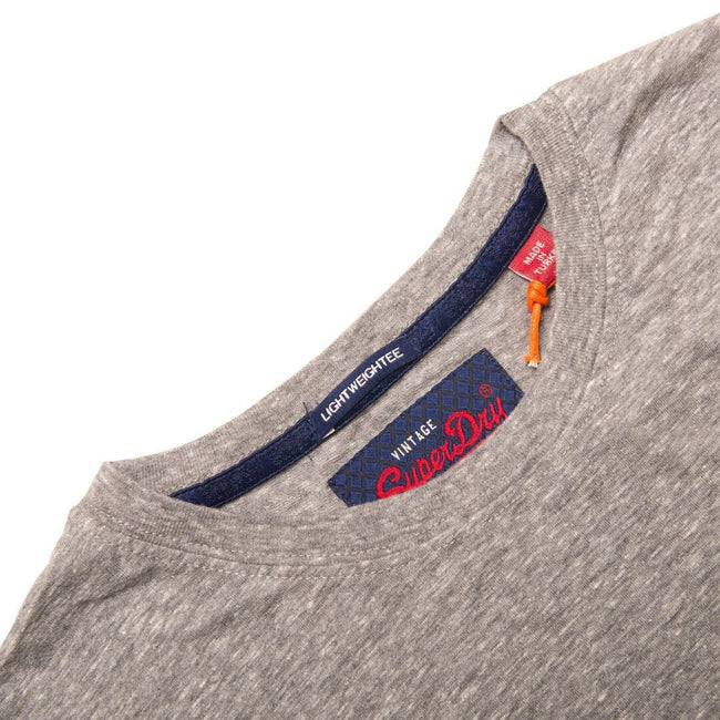 Superdry Premium Goods Essential Lite T- Shirt in Mid Grey Snowy