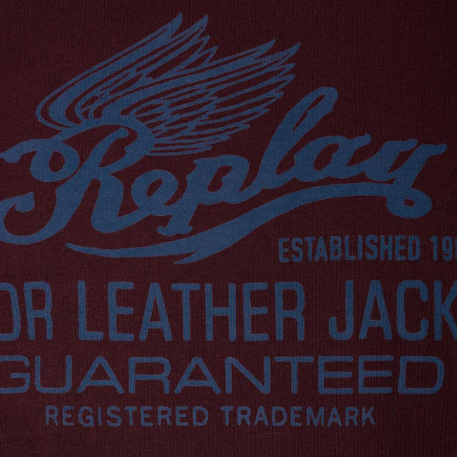 Replay Logo T-Shirt in Mahogany