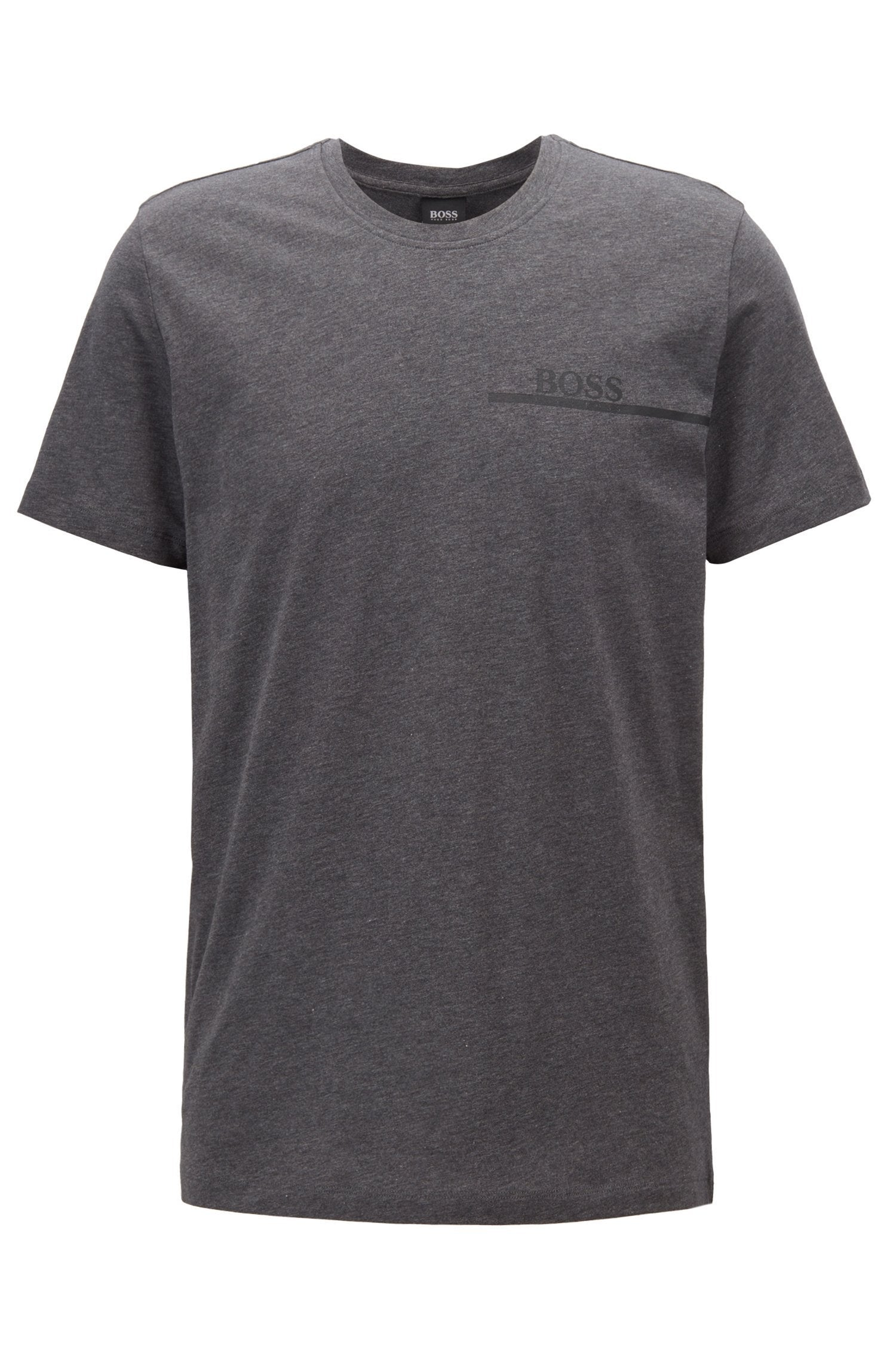 BOSS Bodywear T-Shirt RN Relaxed Fit in Dark Grey