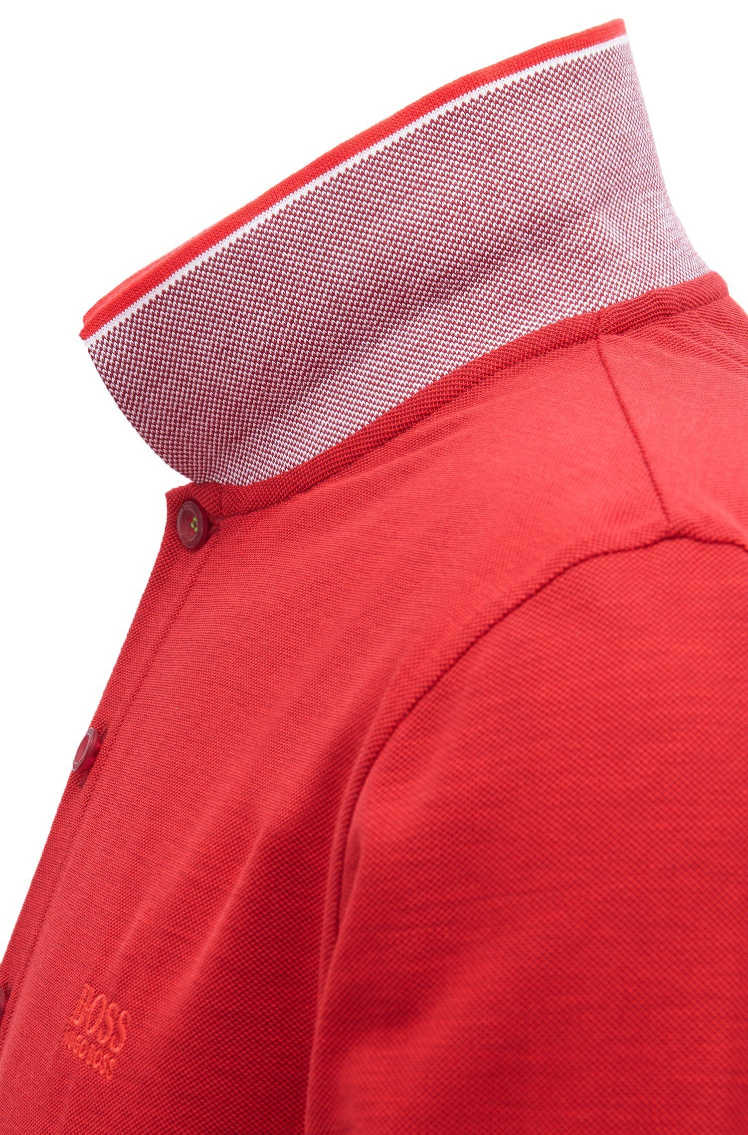 BOSS Athleisure Slim Fit Pleesy Polo Shirt in Red
