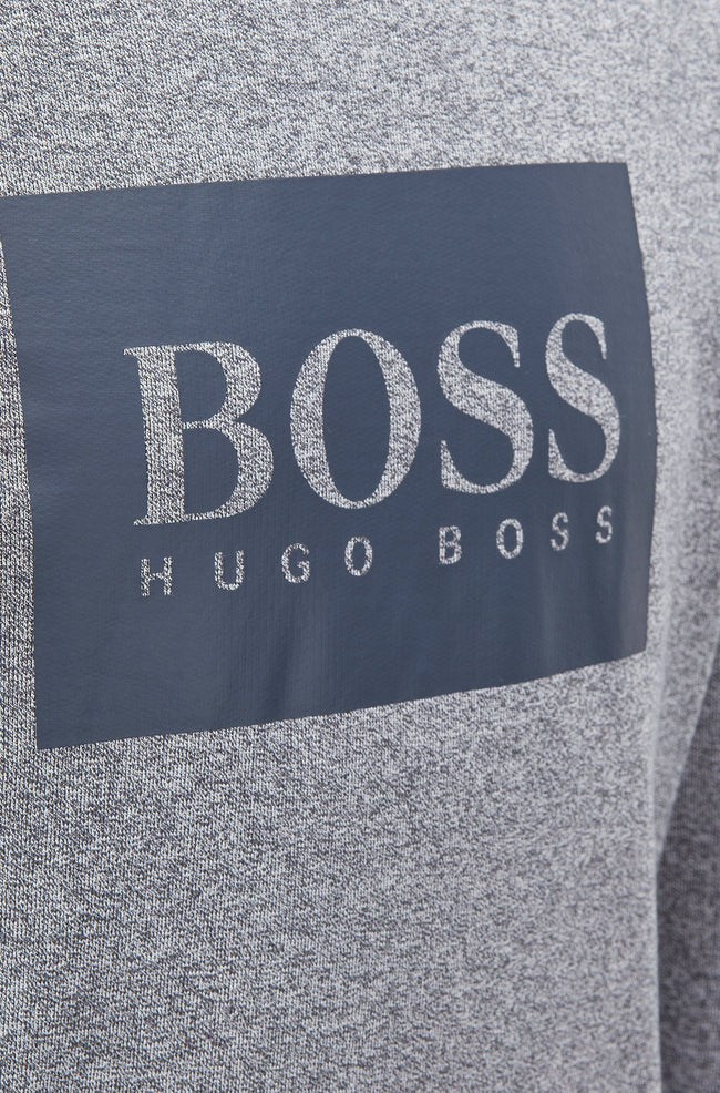 BOSS Bodywear Heritage Hooded Sweatshirt in Light Grey Hoodies BOSS