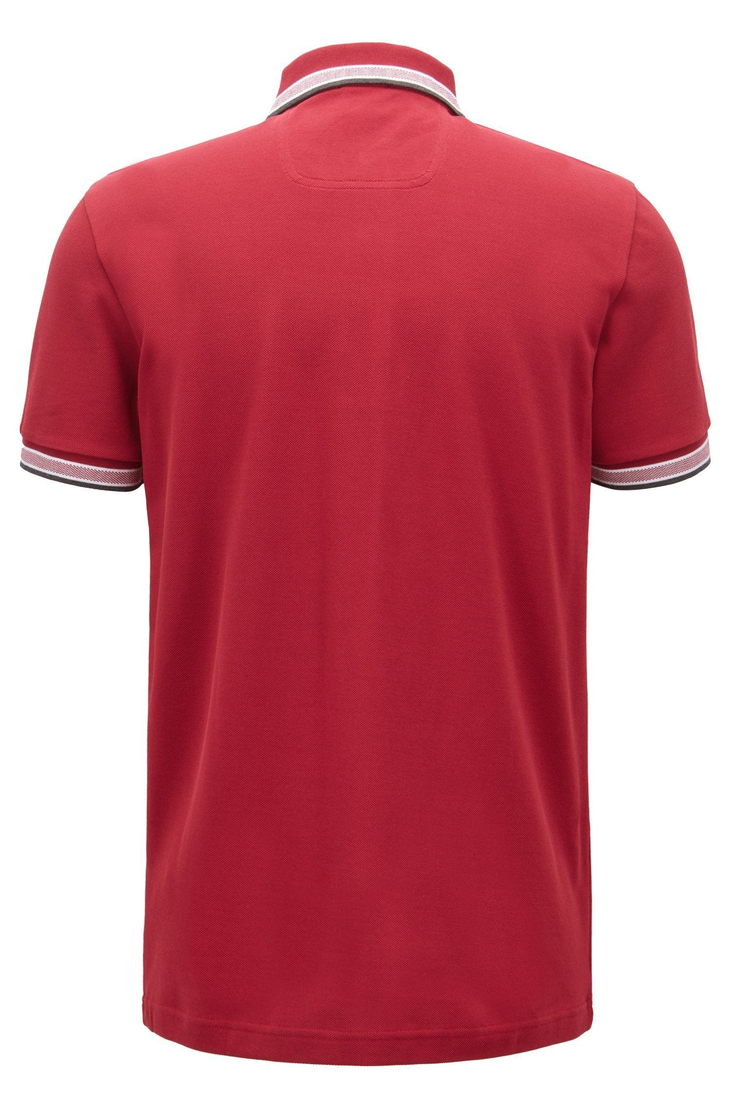 BOSS Athleisure Paddy Regular Fit Polo Shirt in Dark Red