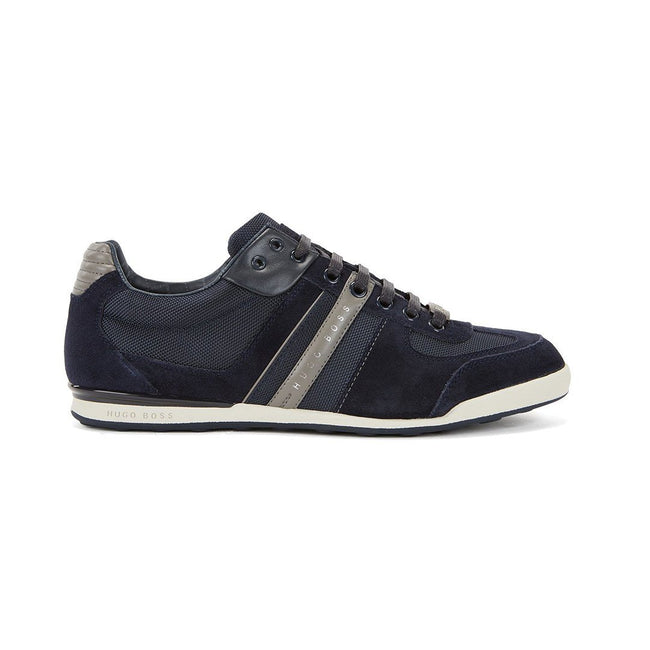 BOSS Athleisure Akeen Low Profile Trainers in Open Blue