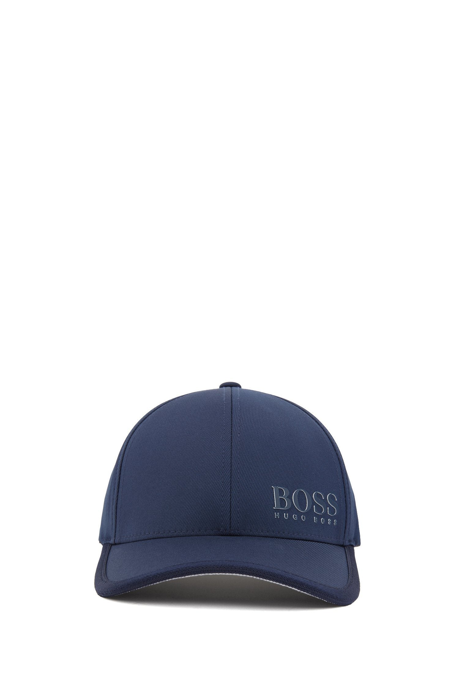 BOSS Athleisure Technical Stretch Twill Cap With 3D Logo in Navy
