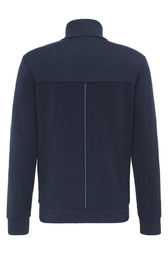 BOSS Athleisure Skaz Full Zip Sweatshirt in Navy