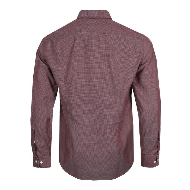 BOSS Athleisure C-Buster Regular Fit Shirt in Burgundy
