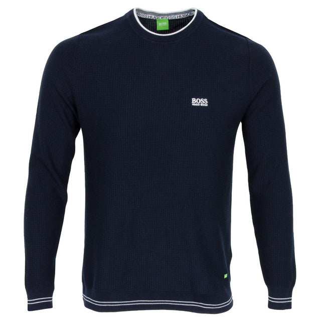 BOSS Athleisure Rome Crew Sweater in Navy