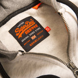 Superdry Vintage Logo Pinel Ziphood in Blizzard Grey Marl/ Black Hoodies Superdry