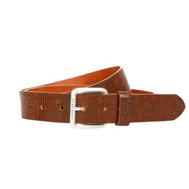 BOSS Althleisure JOS Leather Belt in Brown Belts BOSS