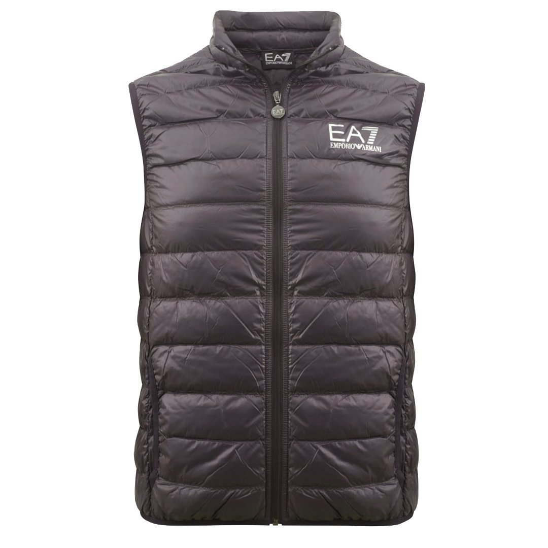 Emporio Armani EA7 Down Gilet in Anthracite Grey