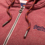 Superdry Orange Label Ziphood in Red Feeder Stripe Ziphood Superdry