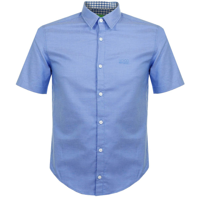 BOSS Athleisure C-Busterino Short Sleeved Shirt in Blue Shirts BOSS