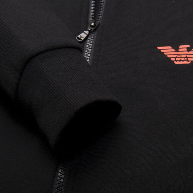 Emporio Armani Hooded Sweater in Black