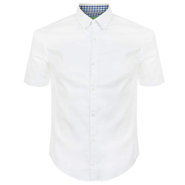 BOSS Athleisure C-Busterino Regular fit Short Sleeved Shirt in White