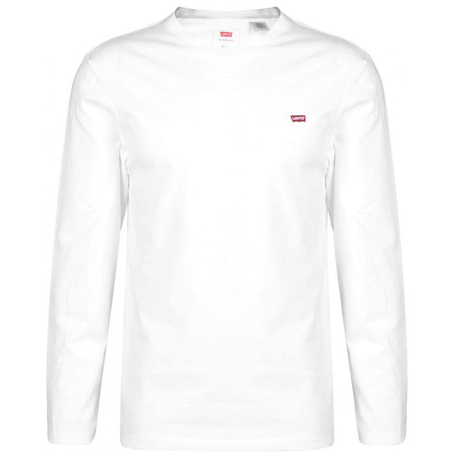 Levi's Long Sleeved Original Logo T-Shirt in White