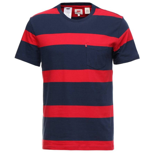 Levi's Striped Pocket T-Shirt in Red / Blue