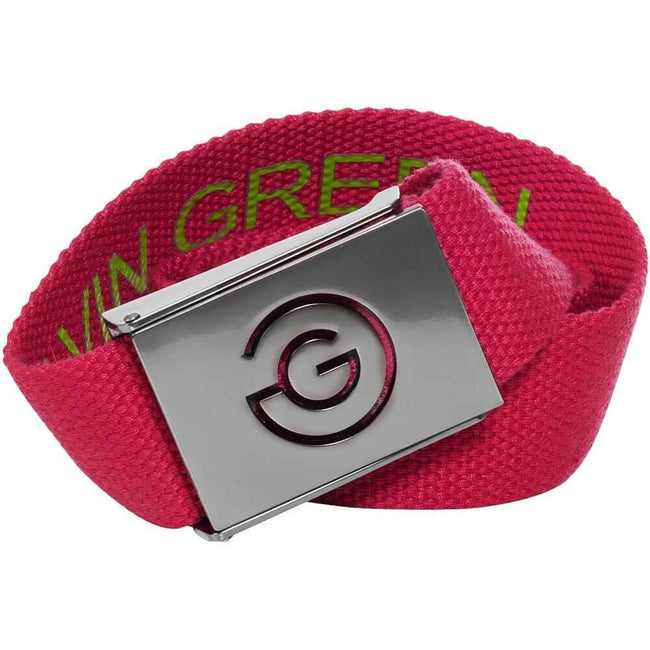 Galvin Green Wade Belt in Cerise / Foregreen