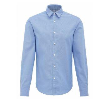 BOSS Athleisure C-Buster Long Sleeve Shirt in Sky Blue