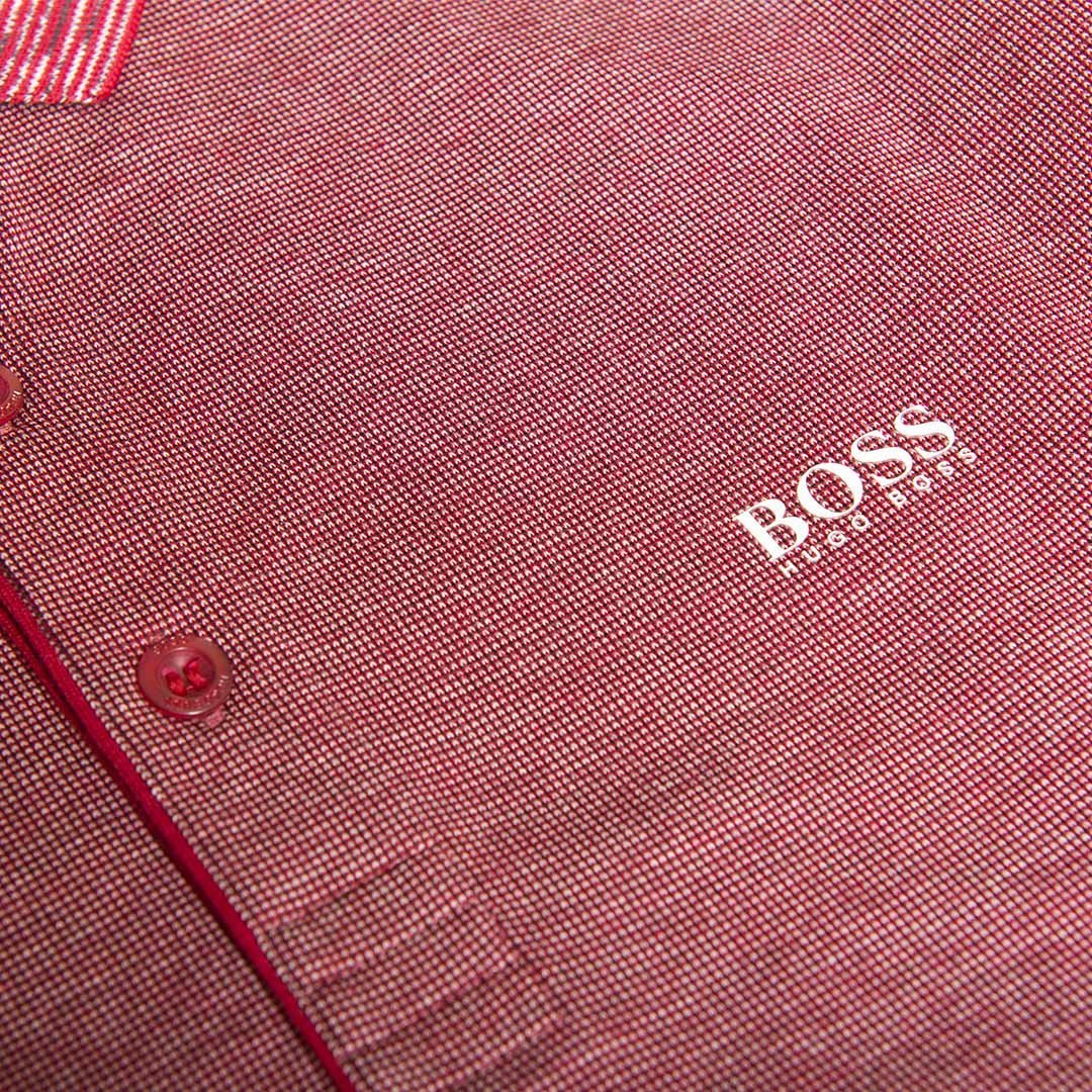 BOSS Athleisure Plisy 1 Regular Fit Polo in Burgundy